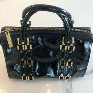 Tory Burch Black Patent Leather Handbag